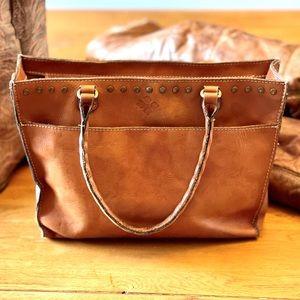 Patricia Nash Vintage Leather Satchel